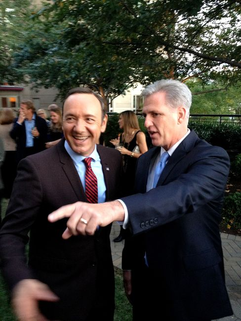 House Majority Leader Kevin McCarthy and Kevin Spacey