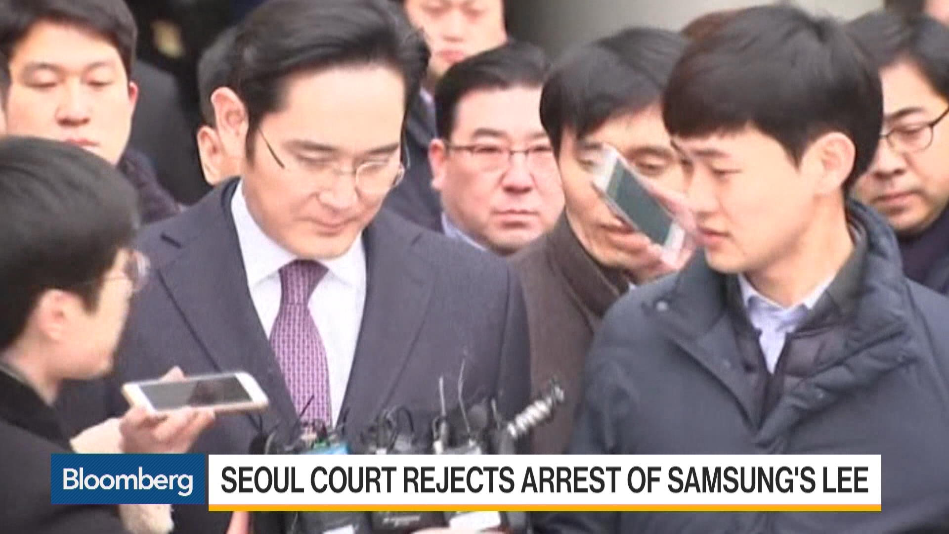 Seoul Court Rejects Arrest of Samsung Heir Lee