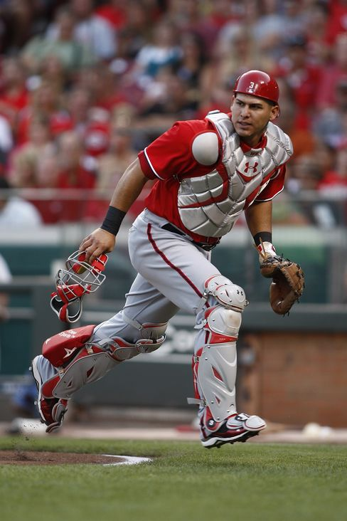 Wilson Ramos #3 of the Washington Nationals