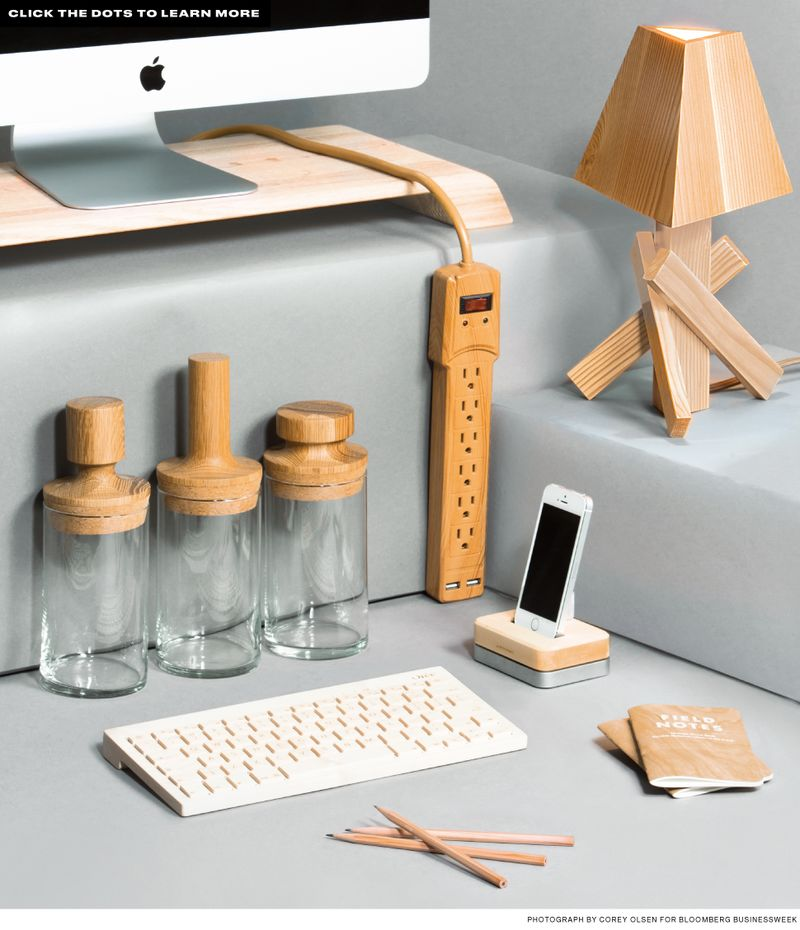 Go With The Grain Desk Accessories Made Of Wood