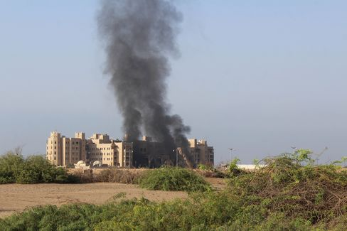 Yemen'de hkmet karargahna dzenlenen fze saldrs