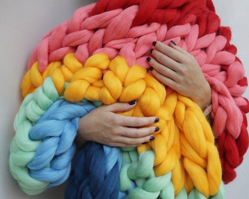 A chunky knit showstopper, courtesy of Etsy.
