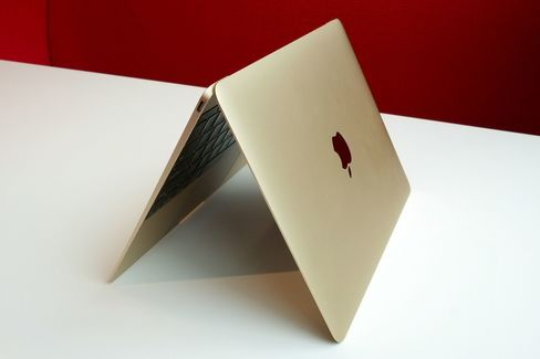 In gold, the MacBook looks unlike any other notebook Apple has made before.