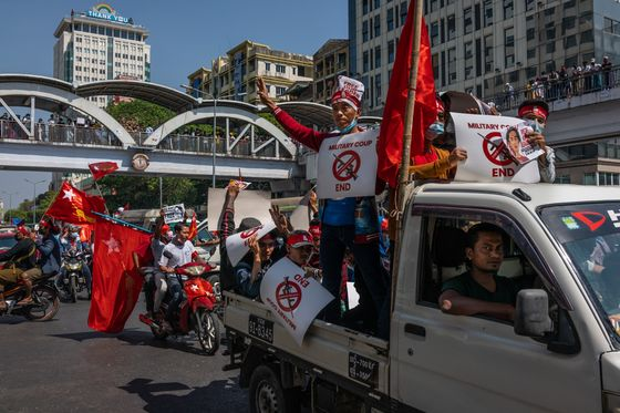 Don't Call It a Coup, Myanmar Military Leaders Warn Media