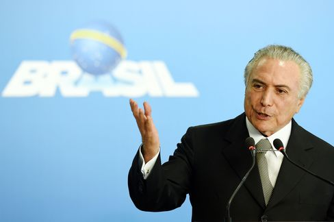 Actong Brazilian President Michel Temer on May 24.
