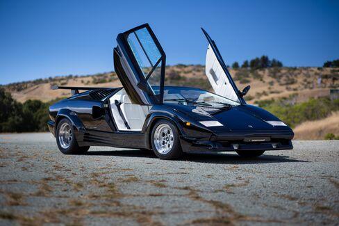 A 1989 Lamborghini Countach, the stuff of Gen-X school-boy fantasies.