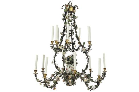 An 18th century chandelier estimated to sell for $15,000 to $20,000 at Christie's.