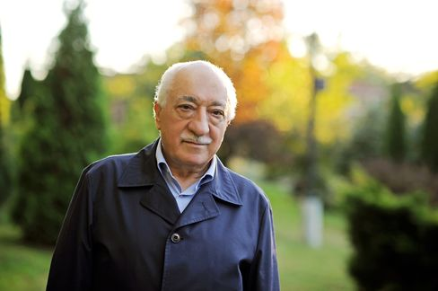 Fethullah Gulen, seen here, is the U.S.-based Islamic cleric and former ally of President Recep Tayyip Erdogan