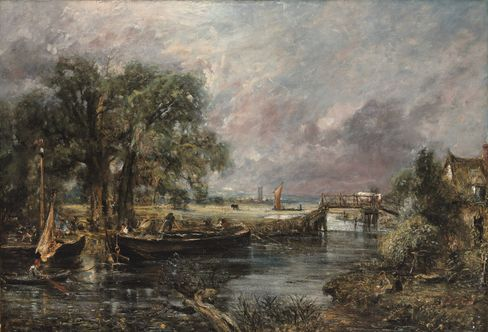 John Constable's View on the Stour near Dedham