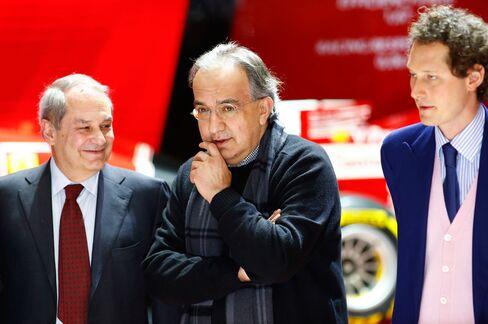 Amedeo Felisa, Sergio Marchionne and John Elkann