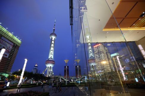 The Lujiazui district of Shanghai