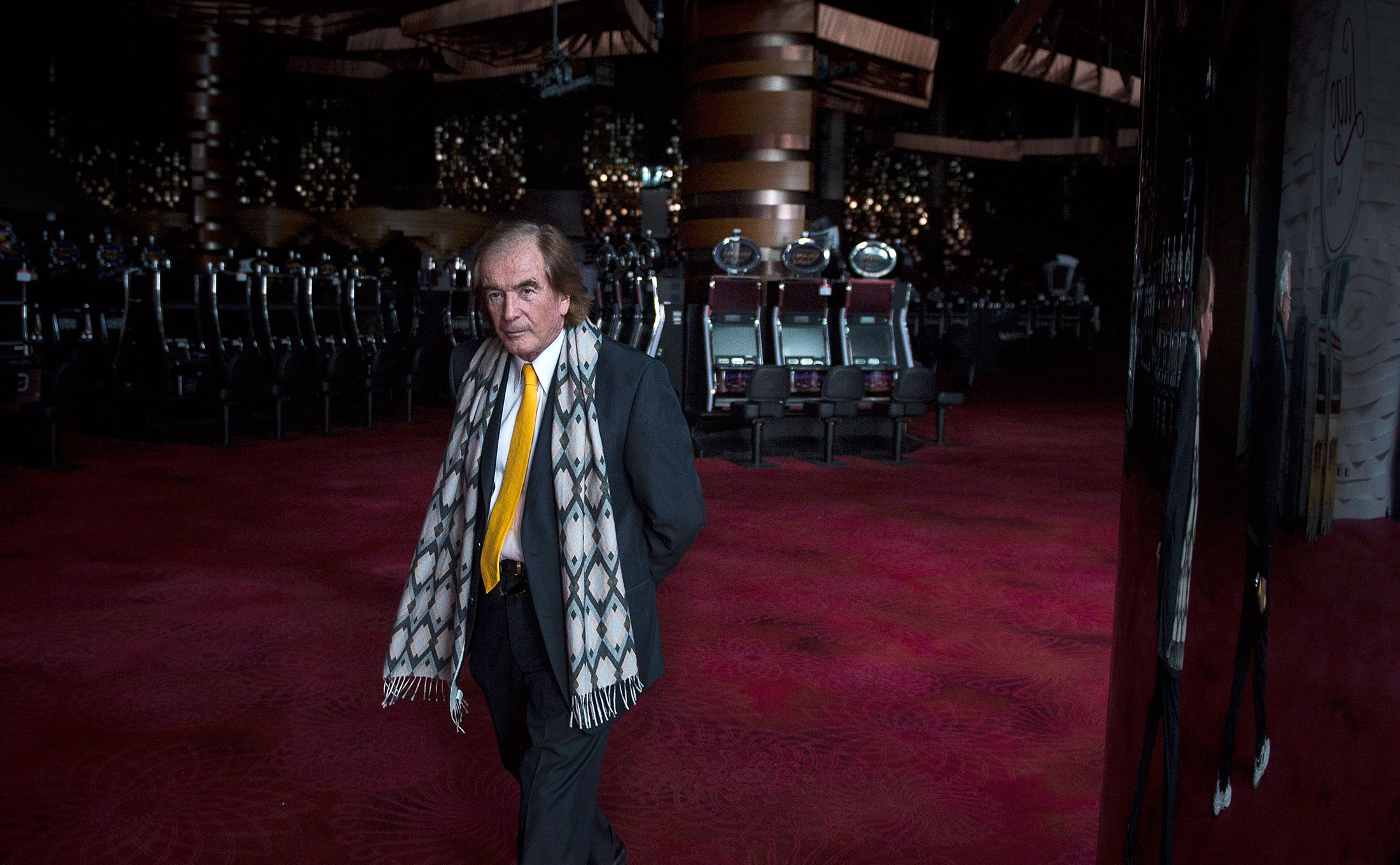 Glenn Straub onthe darkened and depopulated casino floor insidethe Revel Atlantic City, which he purchased out ofbankruptcy last month for$82 million.