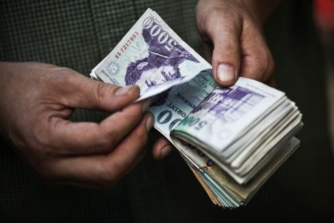Forint Tumbles Most in Week as Moody's Cuts Hungary