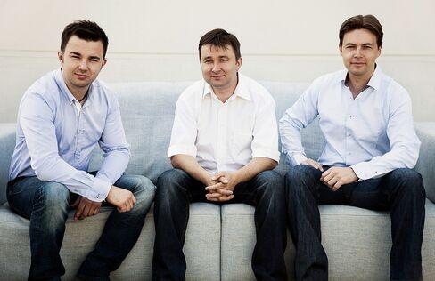Philipp Kreisel, left, Johann Kreisel, center, and Markus Kreisel