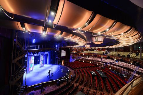 The auditorium inside the Harmony of the Seas.