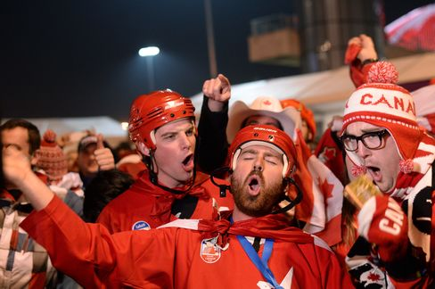 Canada's Supporters Celebrate in Sochi