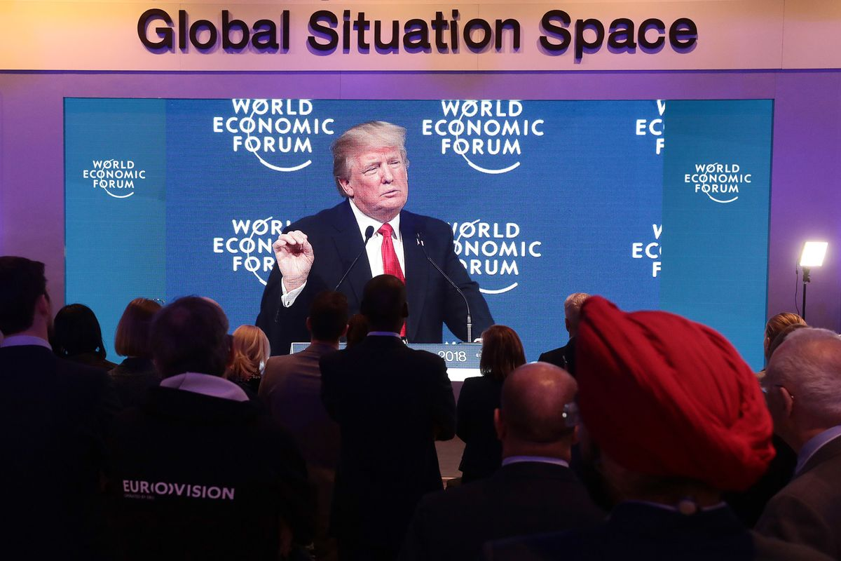 Trump to Mingle With Elites in Davos as Impeachment Trial Opens