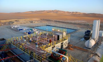 Petroceltic production in the southeast of Algeria.