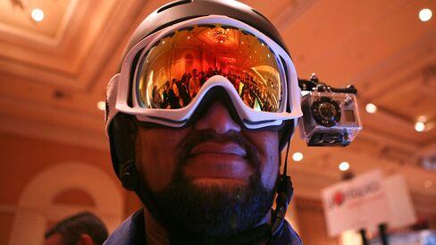 A GoPro wearable digital camera in Las Vegas, Nevada.