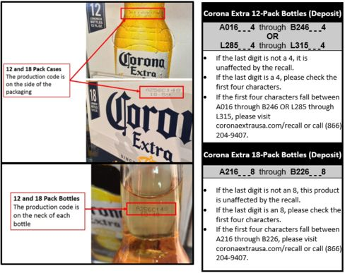 Beers part of Corona's recall