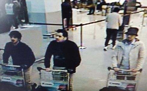 CCTV footage provided by Belgian police of the suspects.