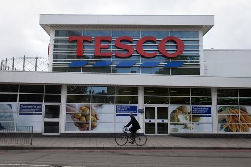 Tesco Reports First Profit Decline in Almost Two Decades