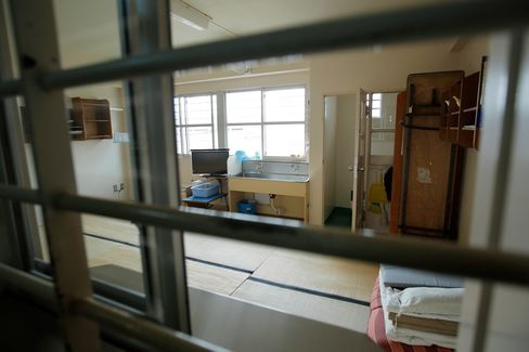 A shared cell at the Nagasaki Prison.