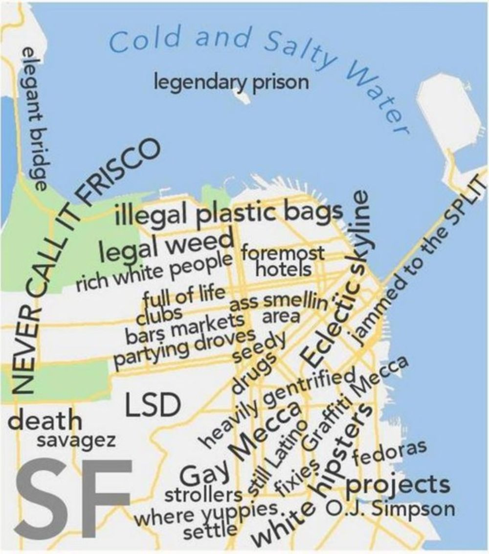 A Profane Judgemental Urban Dictionary Map Of The San Francisco Bay Area Bloomberg San francisco bay area map according to urban dictionary. san francisco bay area