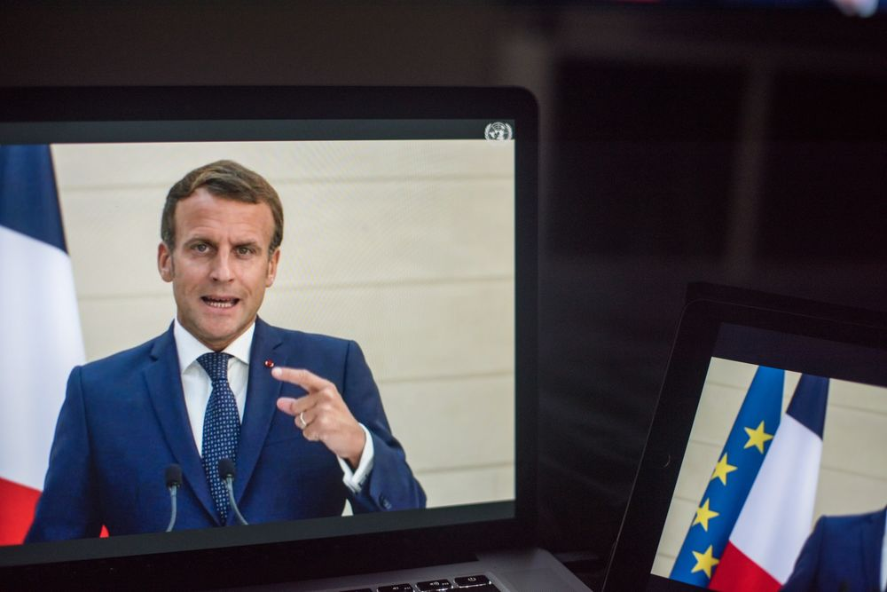 Macron Tells The Un To Wake Up With Swipe At The U S And China Bloomberg
