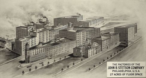 A document from Stetson's archive shows the company's Philadelphia factory during its heyday.