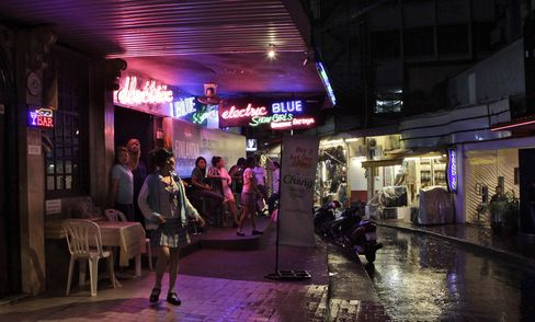 The Patpong red light district in Thailand.