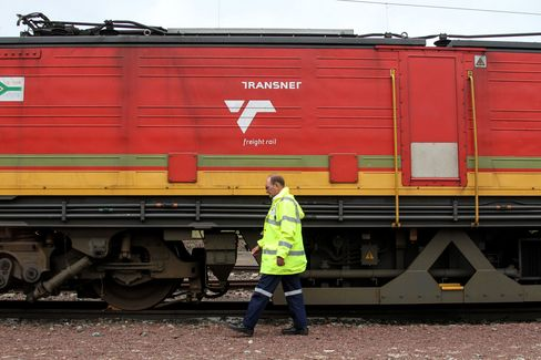 South African Commodities At Freight Rail Terminus