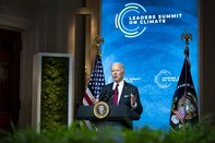 President Biden Participates In Virtual Leaders Summit On Climate