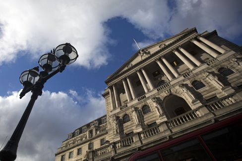 The Bank of England Stands in London