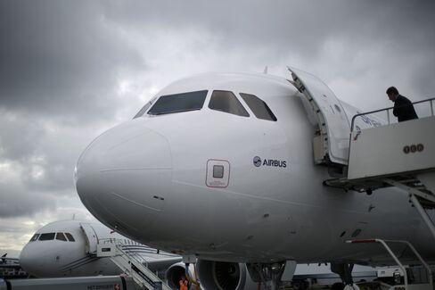 Airbus aircraft at Farnborough airshow