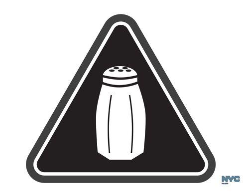 New York's high salt content warning sign