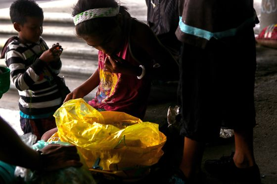 Gaunt, Filthy Kids Roam Streets of Caracas in Packs
