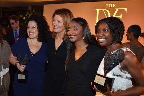 Emily Greener, Nora O'Donnell, Isha Sesay and Agnes Igoye