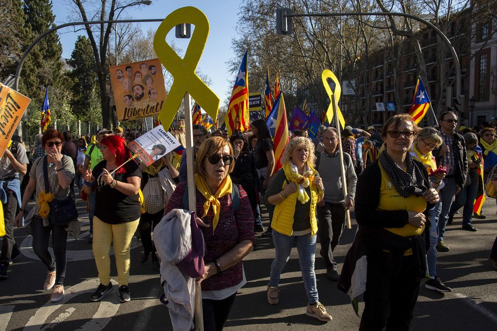 Catalans Take Separatist Campaign to Madrid in Show of Strength