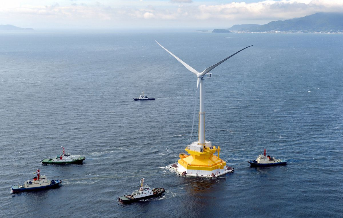 Japan Expanding Floating Wind Farm Amid Intensifying Global Race