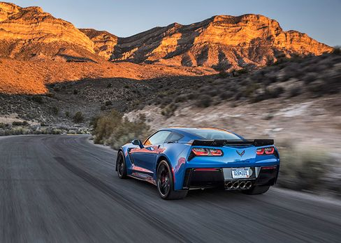 The 2016 Chevrolet Corvette Z06. Bold, deeply saturated tones are associated with aggressive, masculinedrivers.