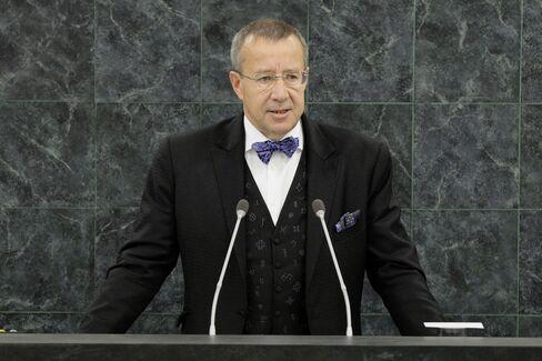 Estonian President Toomas Ilves