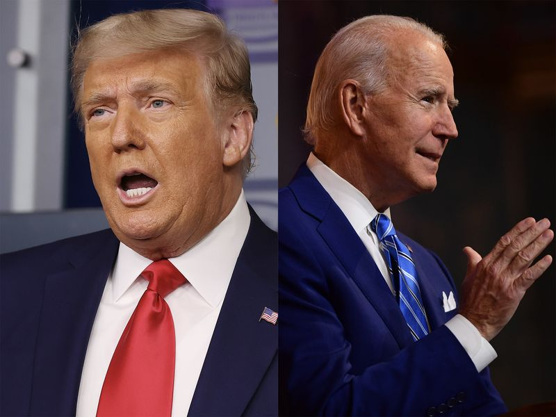 relates to Biden, Trump Deliver Starkly Contrasting Messages on Holiday Eve