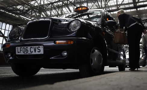 Taxi Drivers In London Protest Against Uber's Car Sharing App