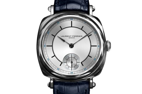 This unique Laurent Ferrier has a vintage-inspired sector dial with two-tone coloring.