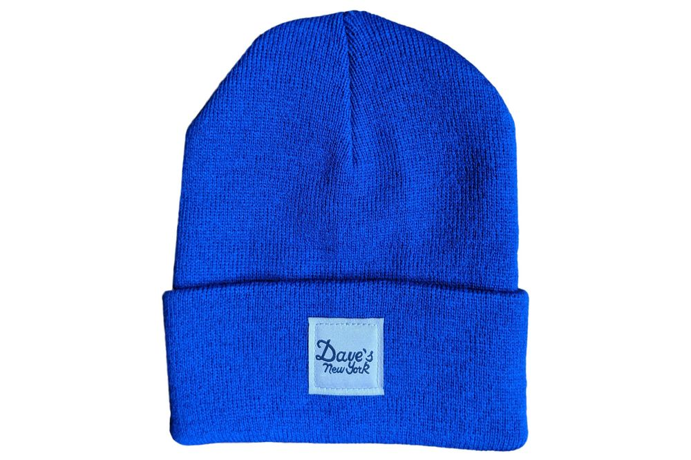 1a9d5f10f26678 relates to The Best Beanies and Other Winter Hats, According to Menswear  Experts. Source: Dave's New York. Dave's New York Vintage Logo ...
