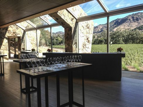Stag's Leap Wine Cellars' founder Warren Winiarski sold the winery to a joint venture of Washington State's Chateau Ste. Michelle and Italy's Marquesi Antinori in 2007 for $185 million. They built this new tasting room next to the SLV vineyard.