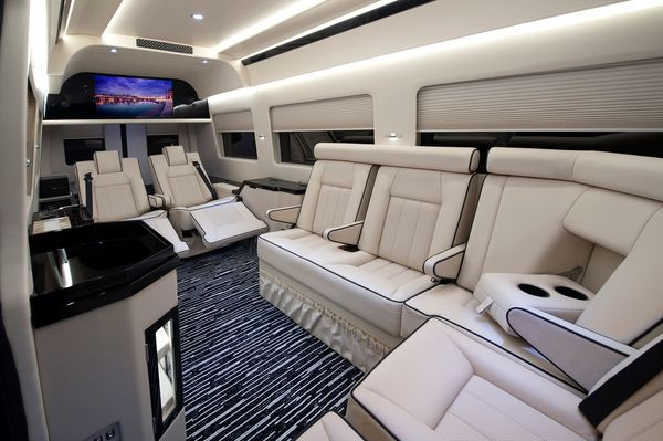 Beckers Most Popular Customized Traffic Busting Vehicle A Mercedes Benz Sprinter Van