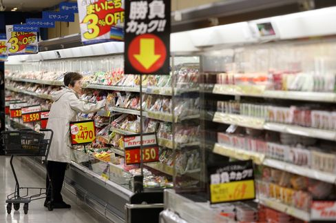 A Customer Shops in a Supermarket in Tokyo