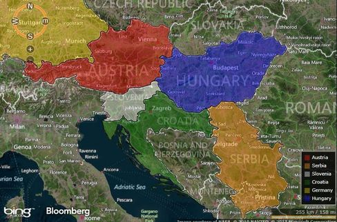 MAP: Balkans Tested on Refugees